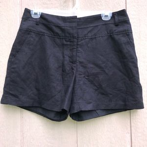 GIBSON LATIMER linen blend shorts size 6 black
